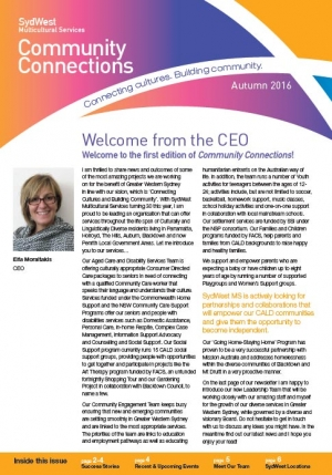 Newsletter Autumn 2016