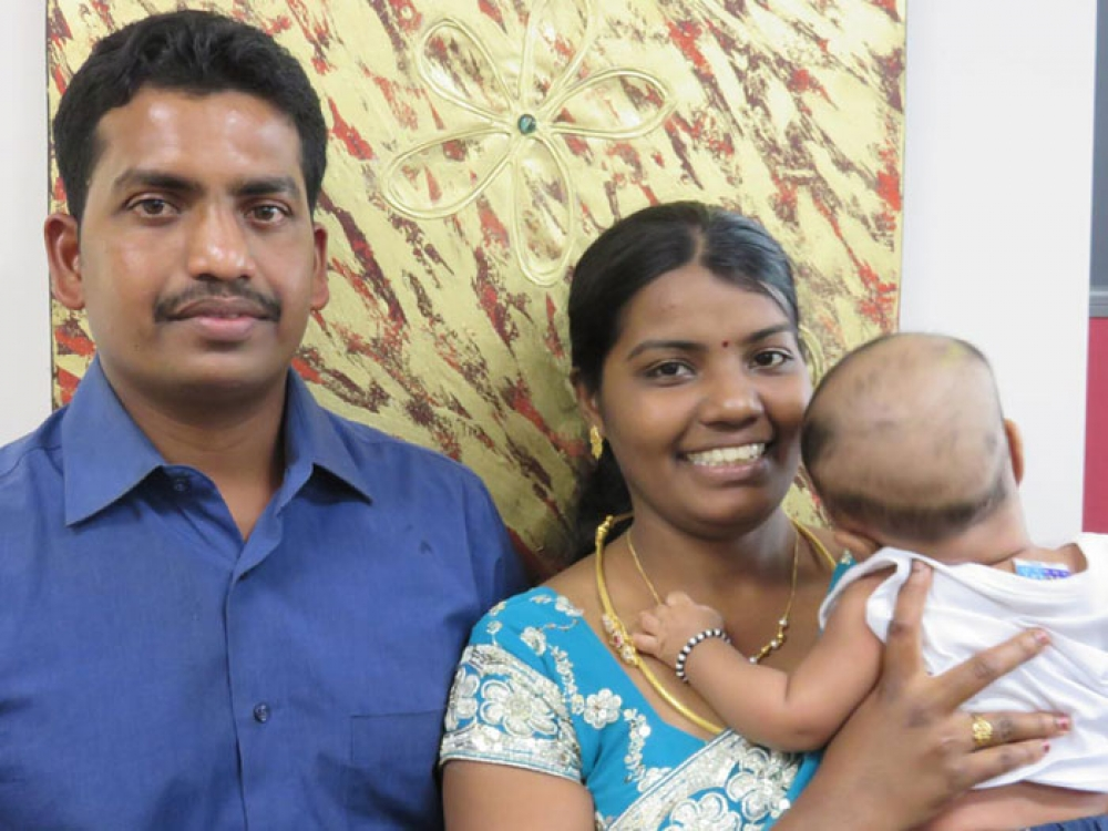 Meet Jeyapalan, who came to Australia five years ago from Sri Lanka