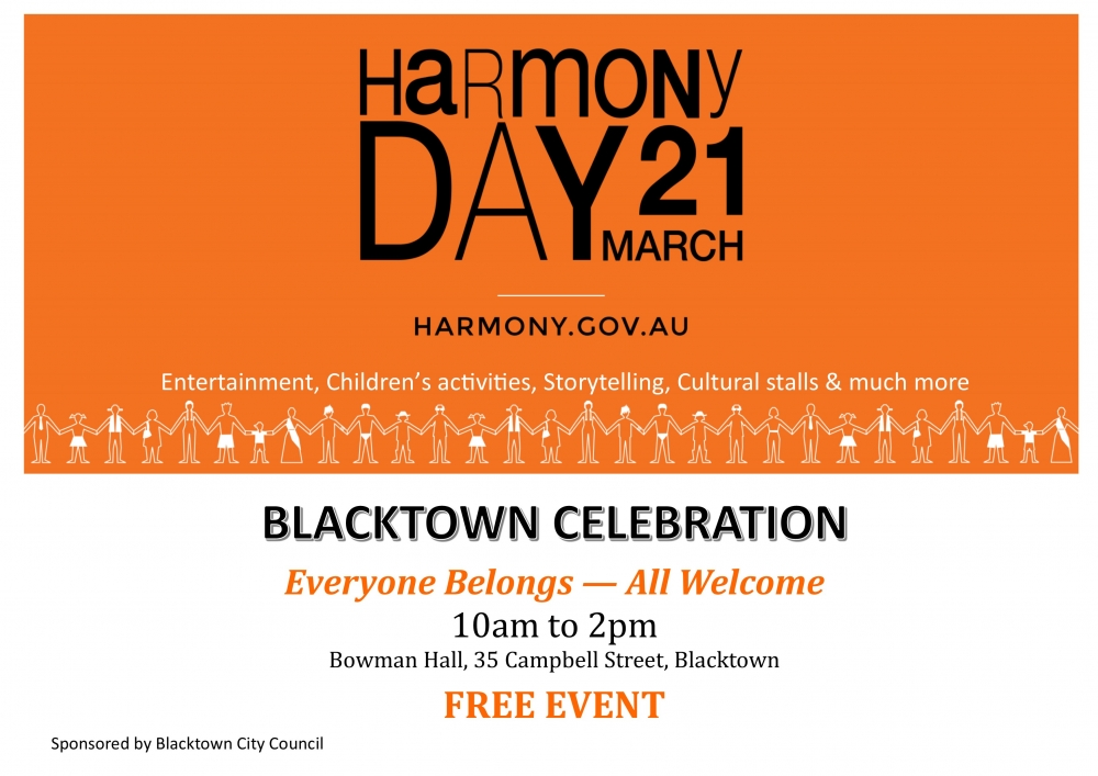 Media Release: Blacktown celebrates Harmony Day -  Everyone Belongs