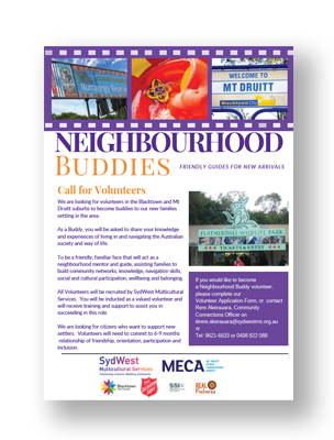 SydWest Neighbourhood Buddies Call for Volunteers