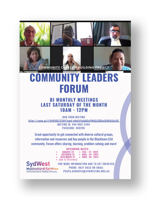 SydWest Community Leaders Forum