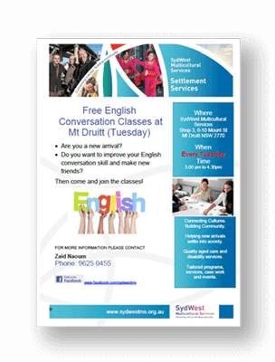 Free English Conversation Classes in Mt Druitt