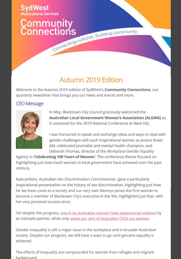 Newsletter Autumn 2019