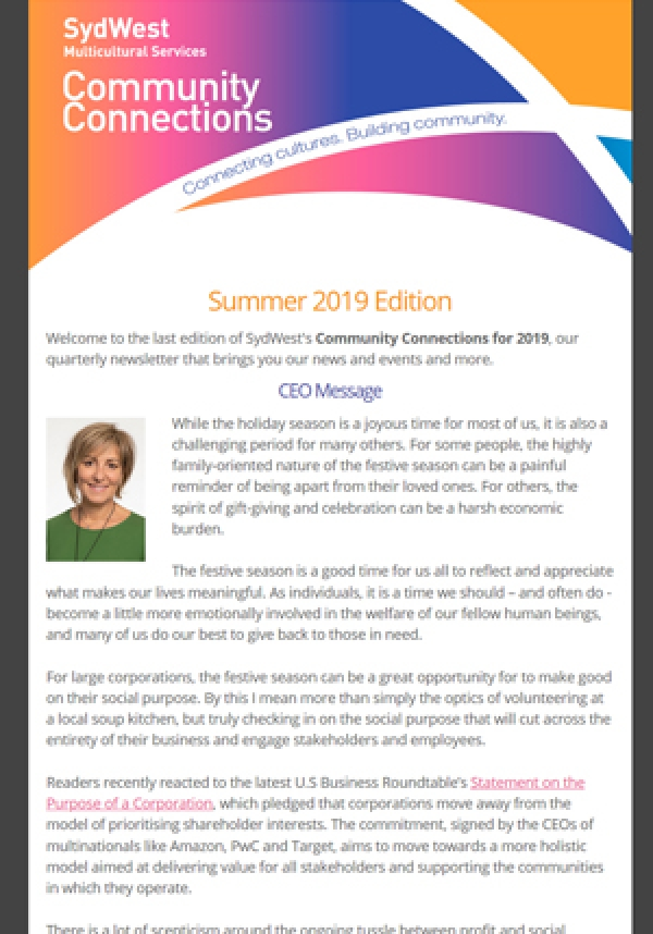 Newsletter Summer 2019